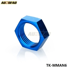 AUTOFAB - 6AN AN6 AN -6 HEX NUT For Male Union Flare Bulkhead Fitting Adapter TK-MMAN6