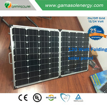 China manufacturer factory sell 100 120 watt folding solar panel for camping