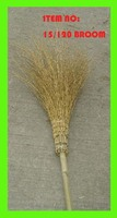European countries used Bamboo broom made of natural bamboo bristles in golden color and dry.