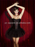 gothic lace up corset dress