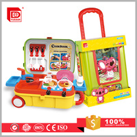 Chilren Learning Cooking Toys Luggage Play