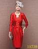 2016 New Design Red Two Piece Short Evening Dress with Jacket/Wrap