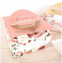 "Baking packaging small 6 inch and cake box of 4 ""pink flowers west butter cups birthday cake box"
