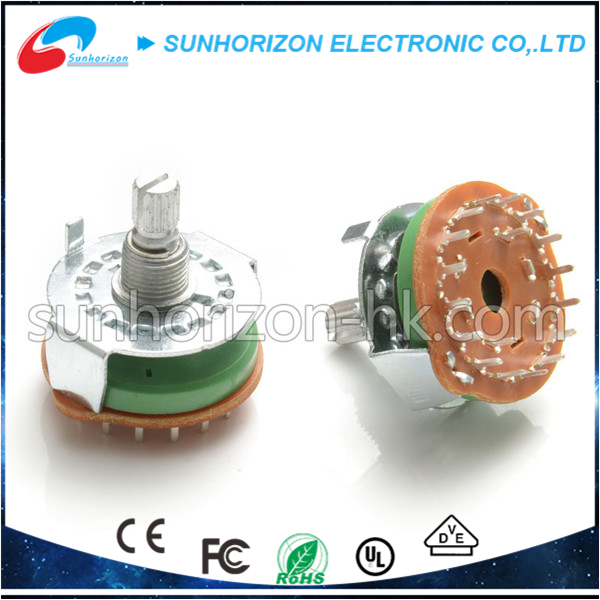 Rotary Switch toy motor rotary switch 6 pole double throw switch