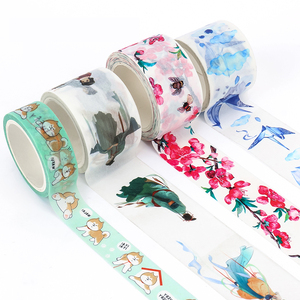Hot sale VOGRACE cheap OEM cartoon anime custom sticker washi paper wholesale lovely cute design printed washi tapes as gift