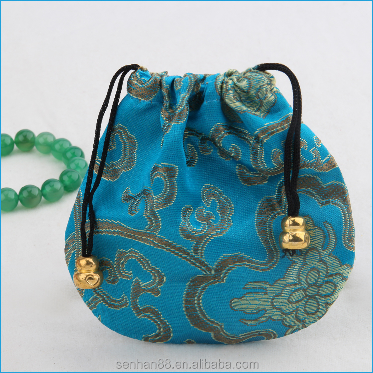 cotton embroidery jewelry small drawstring bags