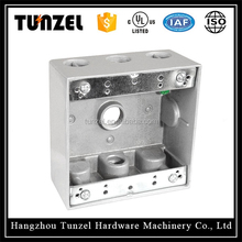 Electric aluminum metal TGB two gang junction weatherproof box