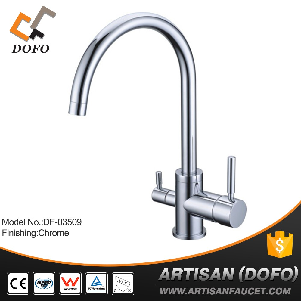Brass chrome deck mounted drinking water RO faucet