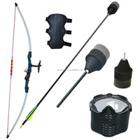 Whole Set Archery Larp Bows and Arrows, Foam Tips Arrows, Face Masks for Foam Archery Target