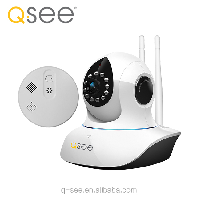 Indoor Q-SEE Network 720P IR wifi Robot Wireless Reversing IP Camera Combo kit QTW918-SD