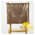wholesale cheap wedding gold sequin chair cap covers