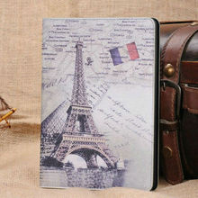 original stand flag leather case for ipad mini, folding case for ipad mini