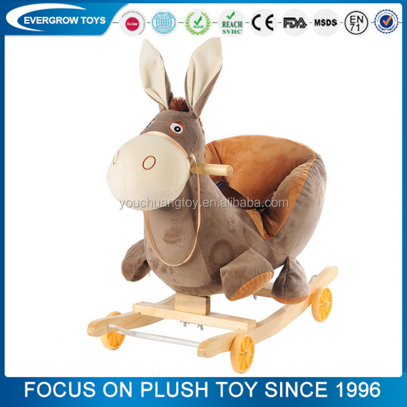 china factory cheap animal plush toy wooden toy