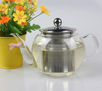 750ml alibaba new product drinking glass tea pot set with handle and filter empty heat resistant glass jug for water coffee