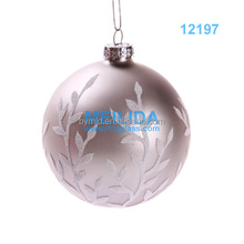 2016 Hand painted Glass christmas ball with fashional pattern
