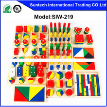Montessori Teaching Aids Educational 14pcs sets Wooden Toys