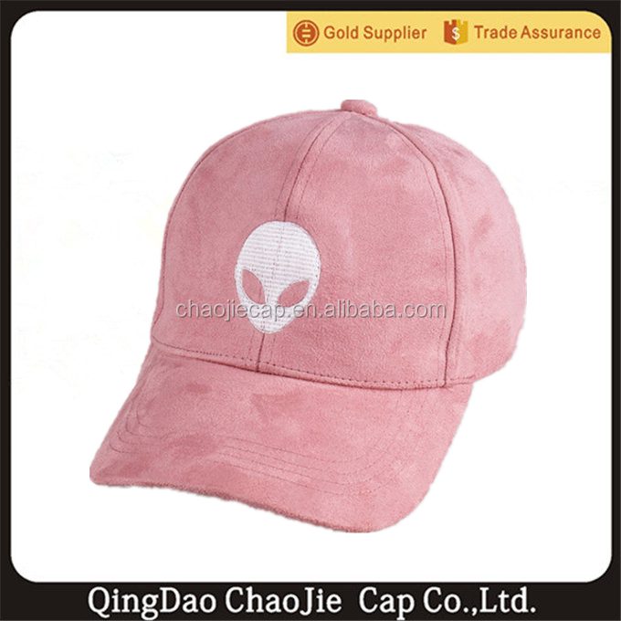wholesale flat embroidery suede baseball cap