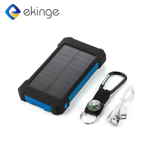 Mini portable outdoor solar powered power bank