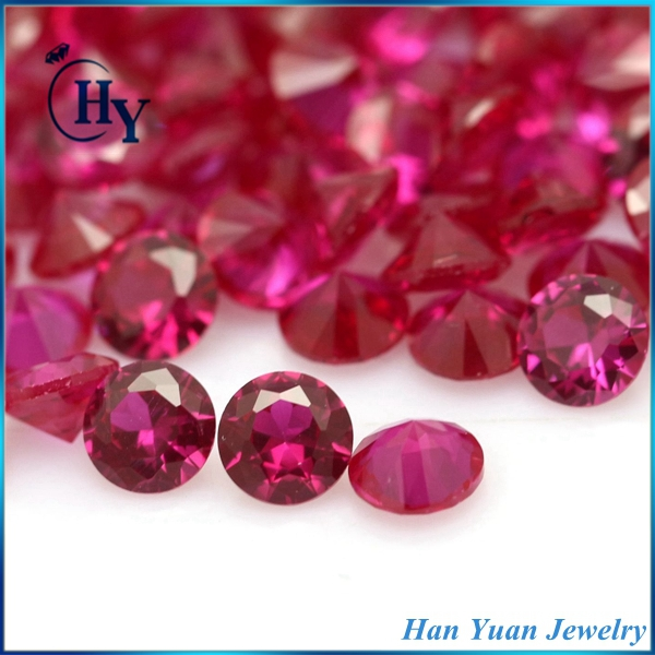 Hot sale AAA 2mm 5# ruby corundum synthetic semi-precious stone red