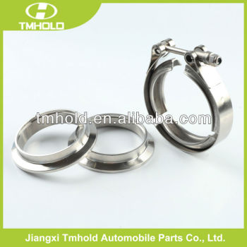 5.0 inch stainless steel V grooved auto muffler clamps flanges kit
