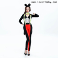 1pcs Wholesale Price Women Sexy Jumpsuit Mouse Costume For Halloween