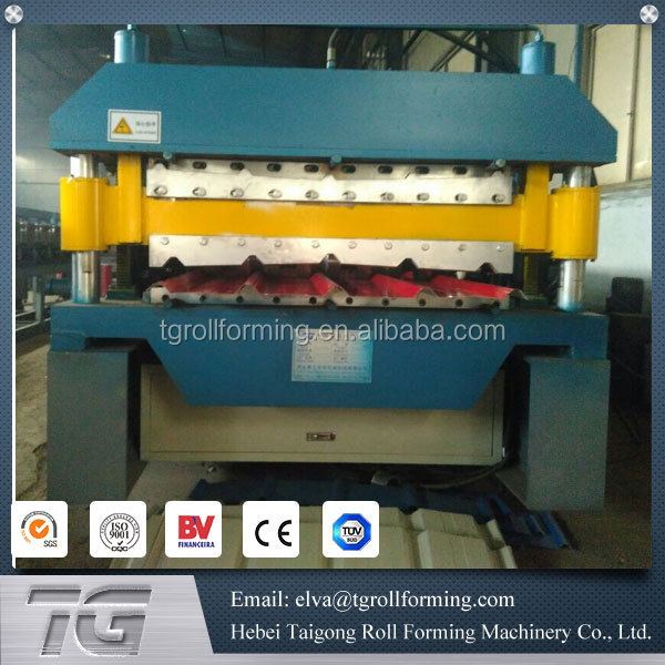 Double Layer Trapezoidal And Corrugated Metal Roofing Sheet Rolling Machine