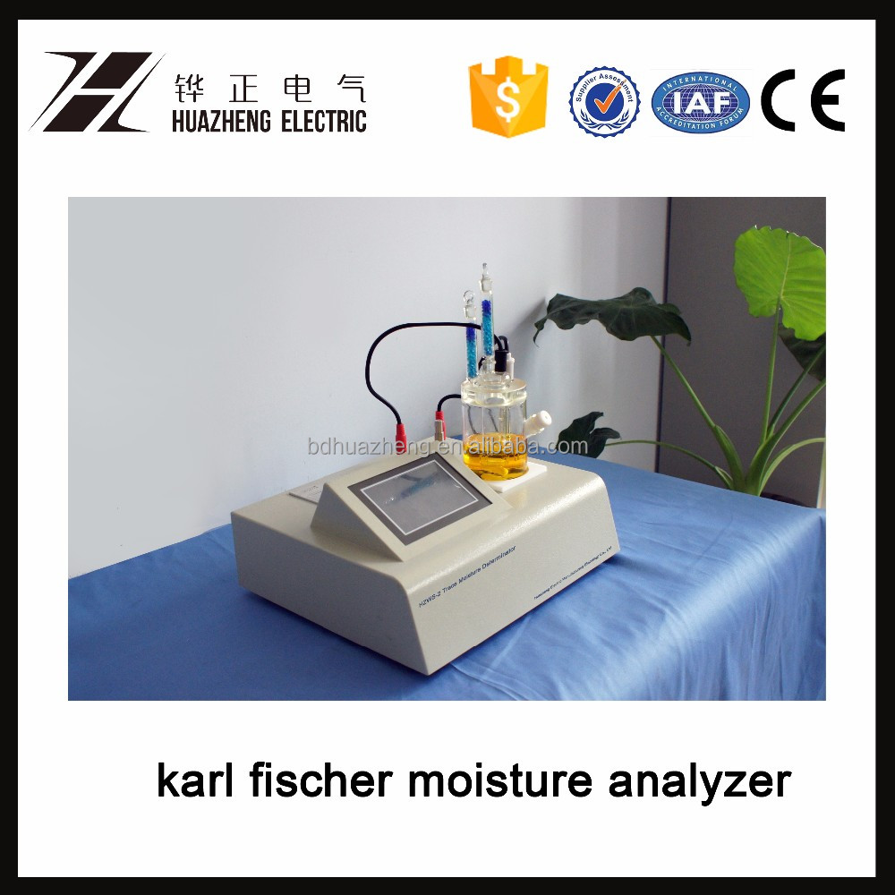 HZWS-3 Fully Automatic Coulometric Karl Fischer Titration Moisture Content Analyser