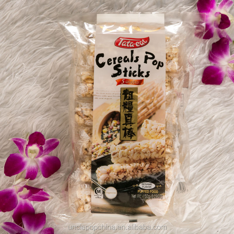 Chinese Uncle Pop snack 150g cereals puffed rice stick cracker