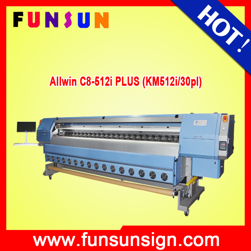 Allwin C8-512i PLUS (KM512i/30pl) High speed konica 512i heads allwin flex banner solvent printer