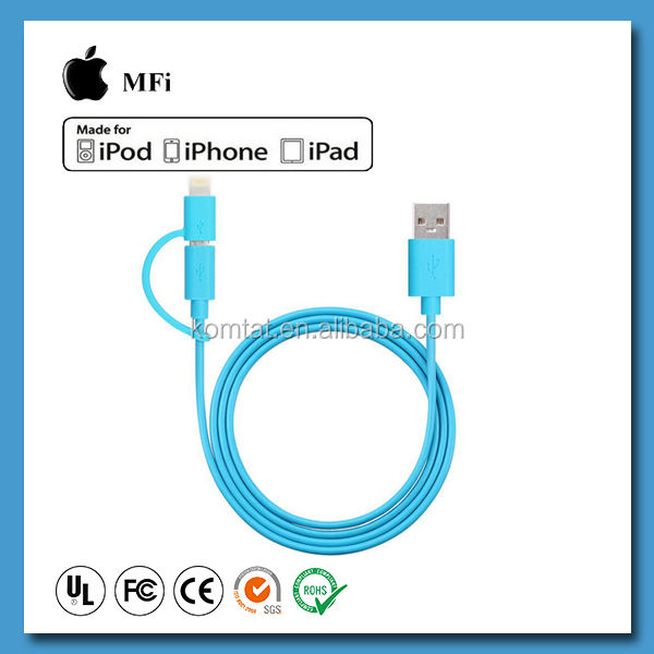 Multiple Charging MFI 8 PIN Cable 2 in 1 USB Cable for Android / i6