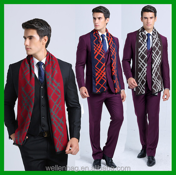 China Wholesale Fashion Winter Brand Luxury Bussiness Casual Men Scarf for Man