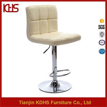 High quality counter white night club stool chair leather