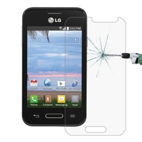 In stock 0.26mm 9H+ Surface Hardness 2.5D Explosion-proof Tempered Glass Film for LG Optimus Fuel L34C