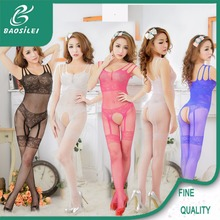 Heart Printed Display Fishnet Tights Mature Women Sexy Lingerie Pics