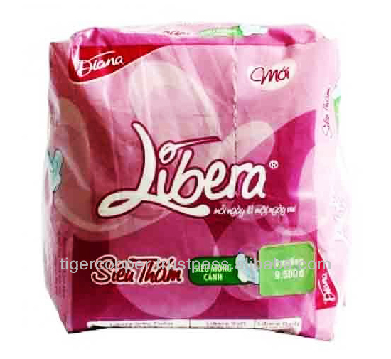 DIANA LIBERA SUPER ABSORBENT SUPER THIN NON WINGS SANITARY NAPKIN PACK 8 PADS/DIANA SANITARY PADS/DIANA SANITARY NAPKIN PAD