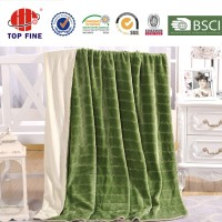 2 ply stitching jacquard flannel blanket throw