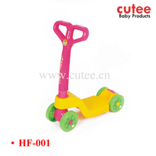 Wholesale Cheap Folding Plastic Children Kick Scooter Assembly Kids Pedal Kick Scooter 4 Wheel Scooter