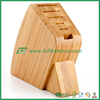 fitting different size bamboo knife rest/ knife block wooden