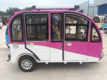 China closed electric tuk tuk 6 seat passenger vehicles rickshaw ith rear axle for sale