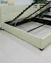 modern customized furniture leather lift storage bed hydraulic bed in home furniture
