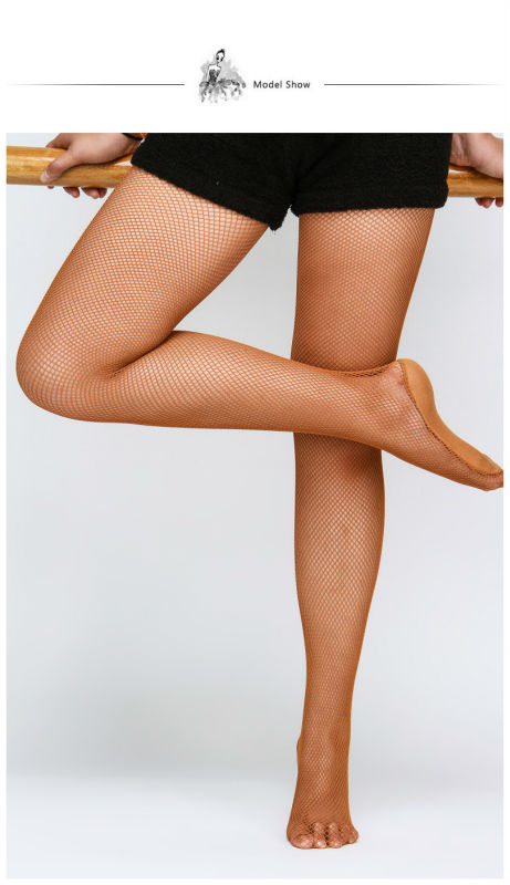D004813 Dttrol Girls Professional Seamless Fishnet Pantyhose