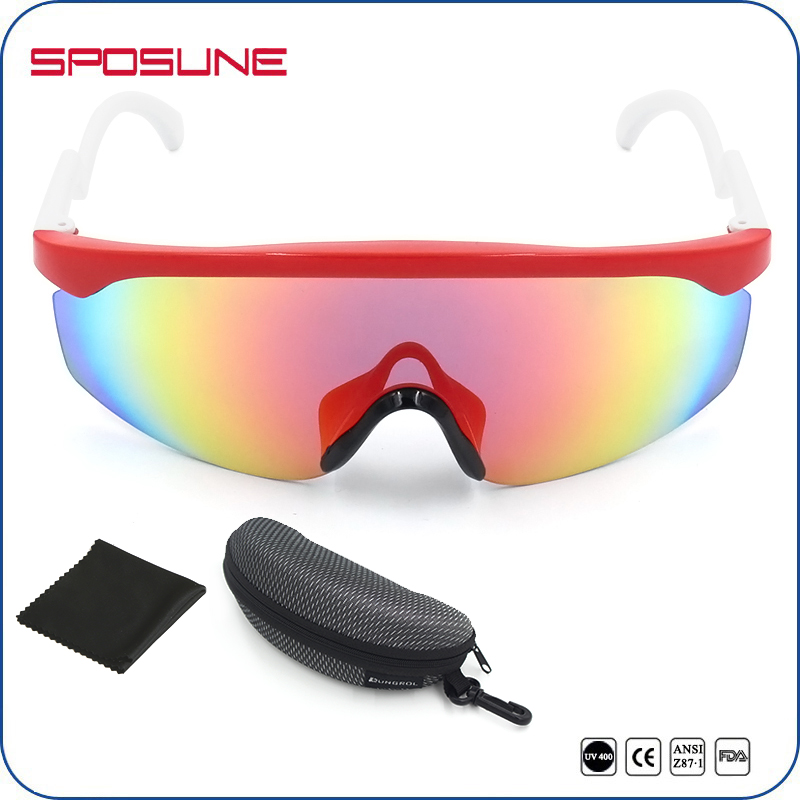 Specical Half Frame Colorful Lens UV400 Sports Sunglasses For Outdoor