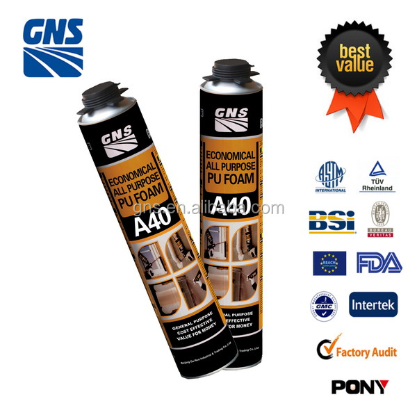 workable price gerneral pu foam spray for installating door & windows