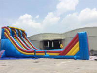 Commercial giant adult inflatable slip and slide for sale