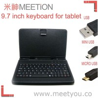 "7"" leather case wired keyboard for samsung tablet pc"