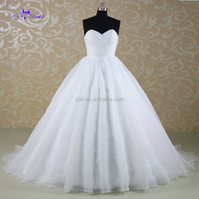 J--0048hot selling sweetheart newest removale sash with flowers no train tulle sleeveless bling ball gown wedding dresses