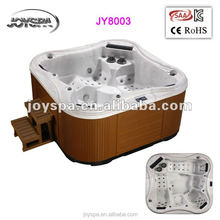 5 Persons cheap balboa music system rectangular freestanding Acrylic whirlpool massage outdoor hot tub spa tub