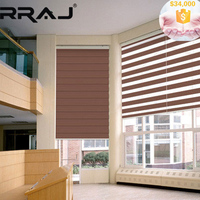 RRAJ Crafted Motorized Pleated Day Night Window Blinds