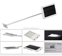 IP 65 waterproof solar led wall light with extention stick