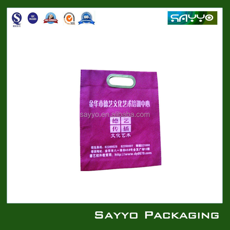 non woven profiled bag/non woven lunch box bag/non woven carpet bag